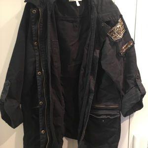 Detailed black army jacket